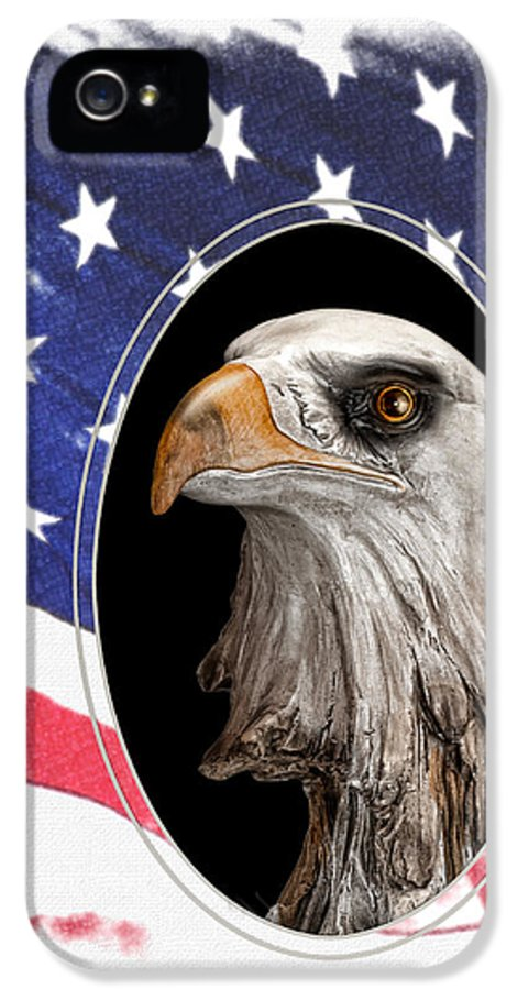 Eagle IPhone 5 Case featuring the photograph Portrait Of America by Tom Mc Nemar