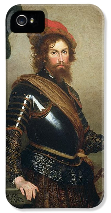 Soldier IPhone 5 Case featuring the painting Portrait Of Nicolo Raggi by Bernardo Strozzi