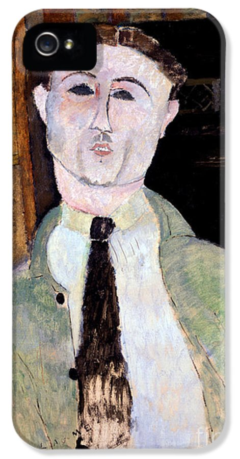 Modigliani IPhone 5 Case featuring the painting Portrait Of Paul Guillaume by Amedeo Modigliani