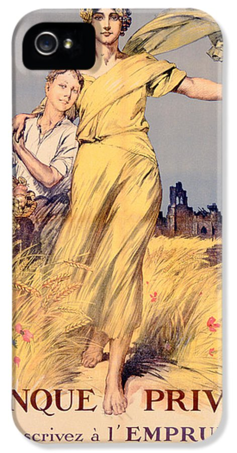 World War One IPhone 5 Case featuring the painting Poster Advertising The National Loan by Rene Lelong
