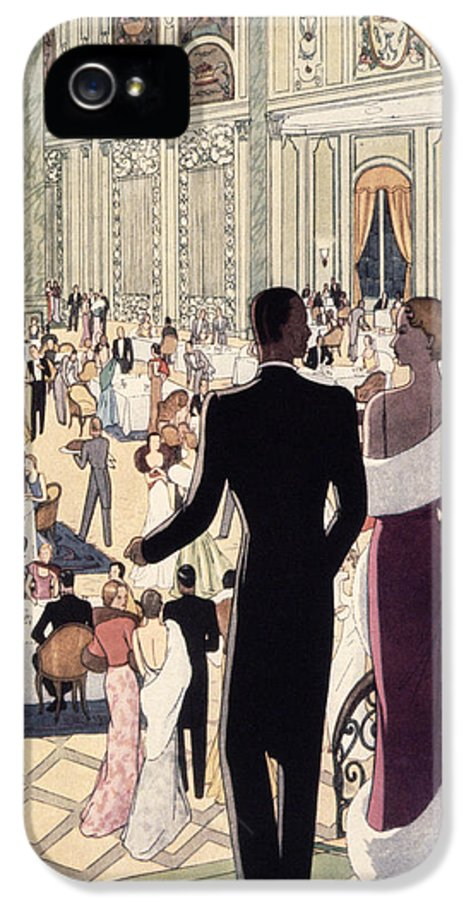 30s IPhone 5 Case featuring the painting Poster Advertising The Rex by Italian School