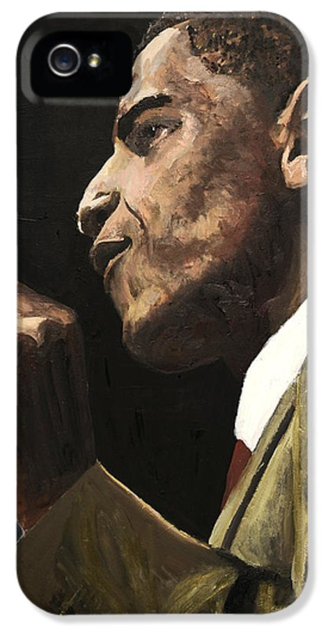 President Obama IPhone 5 Case featuring the painting Potus 2 by Roger James
