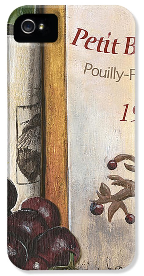 Red Grapes IPhone 5 Case featuring the painting Pouilly Fume 1975 by Debbie DeWitt