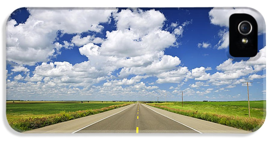 Highway IPhone 5 Case featuring the photograph Prairie Highway by Elena Elisseeva