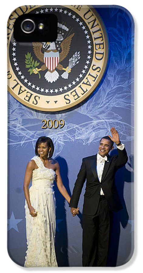 Admiral IPhone 5 Case featuring the digital art President And Michelle Obama by had J McNeeley