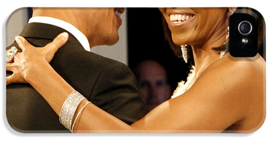 Photograph IPhone 5 Case featuring the digital art President And Michelle Obama by Official Government Photograph
