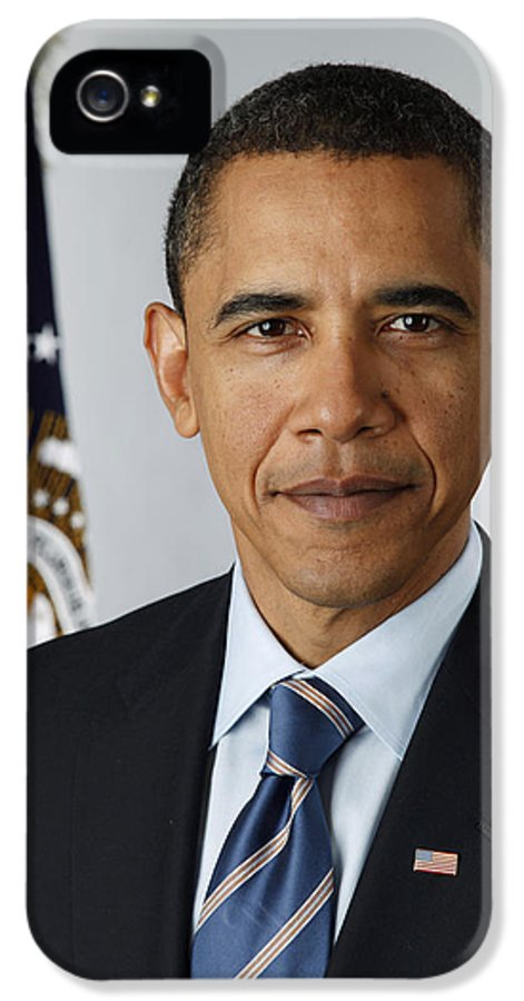 Obama IPhone 5 Case featuring the digital art President Barack Obama by Pete Souza