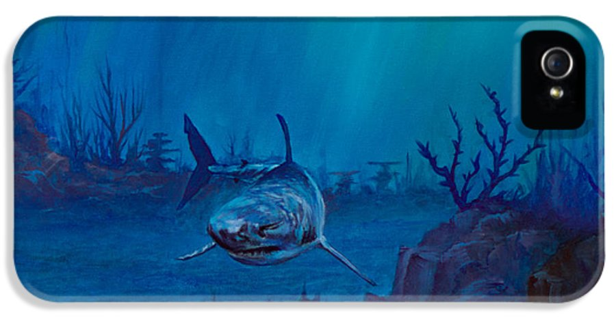 Ocean IPhone 5 Case featuring the painting Primal Beauty by C Steele