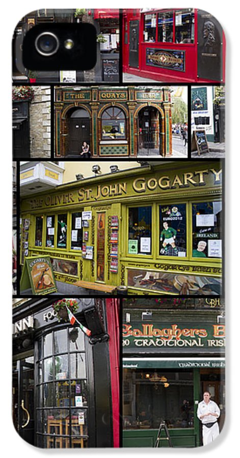 Pubs IPhone 5 Case featuring the photograph Pubs Of Dublin by David Smith