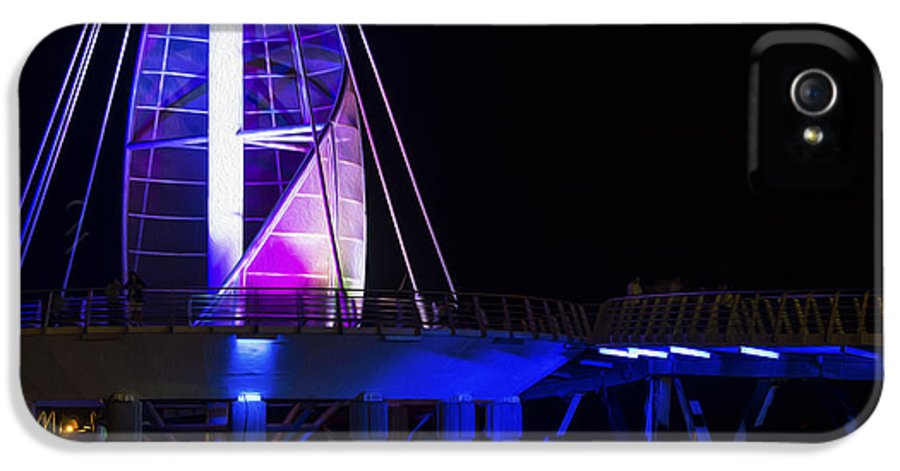 Night IPhone 5 Case featuring the photograph Puerto Vallarta Pier by Aged Pixel