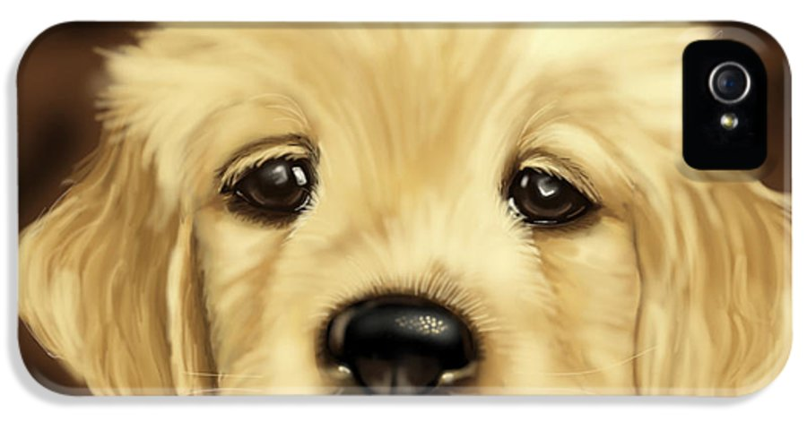 Dog IPhone 5 Case featuring the painting Puppy by Veronica Minozzi