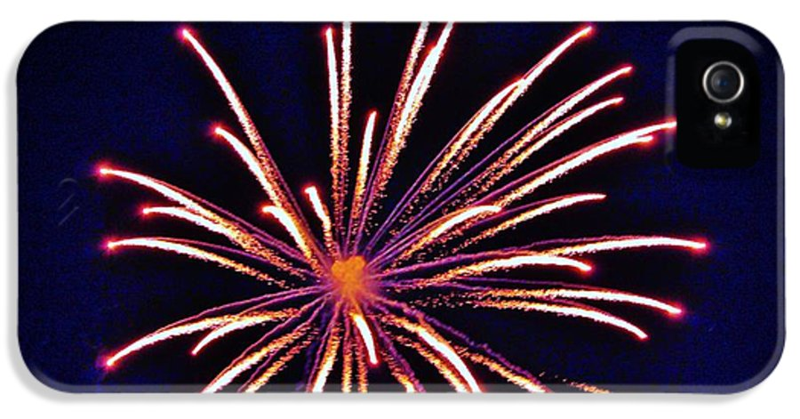 Firework IPhone 5 Case featuring the photograph Purpe Majesty by Cynthia N Couch