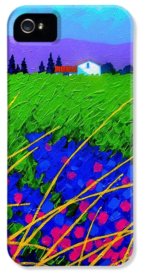 Cottage IPhone 5 Case featuring the painting Purple Hills by John Nolan