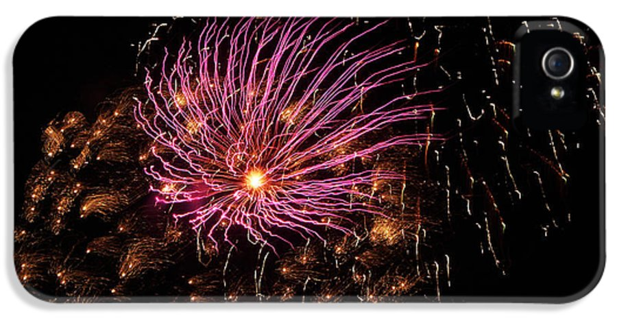 Fireworks IPhone 5 Case featuring the photograph Purple Orbit by Aimee L Maher Photography and Art Visit ALMGallerydotcom