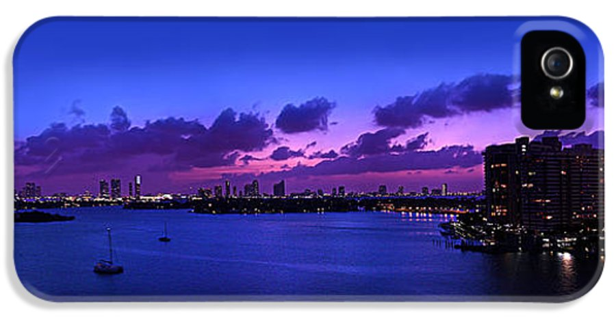Panorama IPhone 5 / 5s Case featuring the photograph Purple Sunset by Michael Guirguis