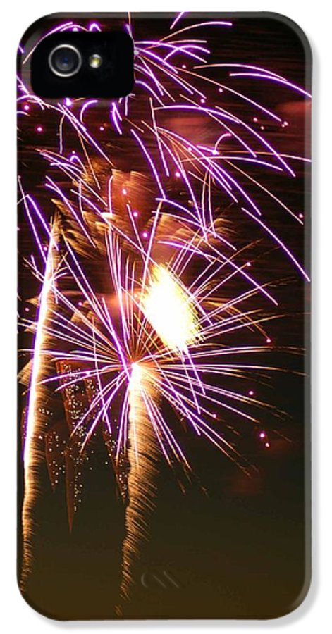 Fireworks IPhone 5 Case featuring the photograph Purple Trees by Optical Playground By MP Ray