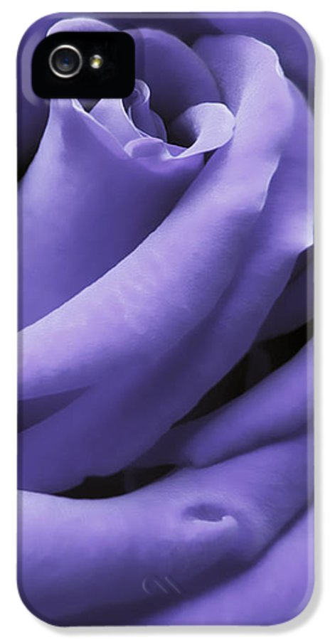 Rose IPhone 5 Case featuring the photograph Purple Velvet Rose Flower by Jennie Marie Schell