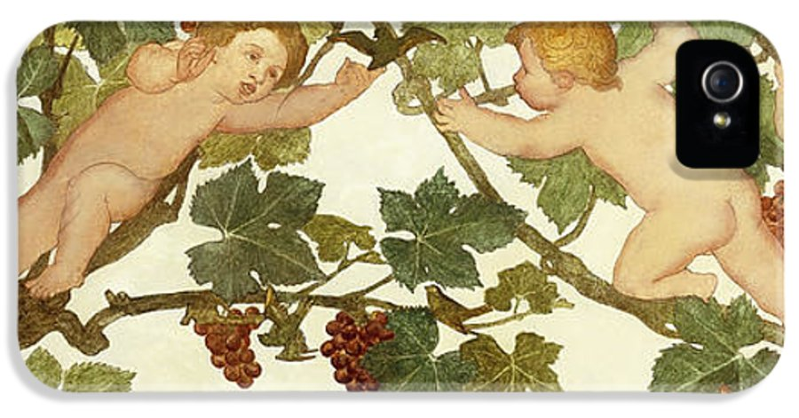Irish IPhone 5 Case featuring the painting Putti Frolicking In A Vineyard by Phoebe Anna Traquair