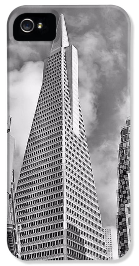 Transamerica IPhone 5 Case featuring the photograph Pyramid Bw by Jenny Hudson