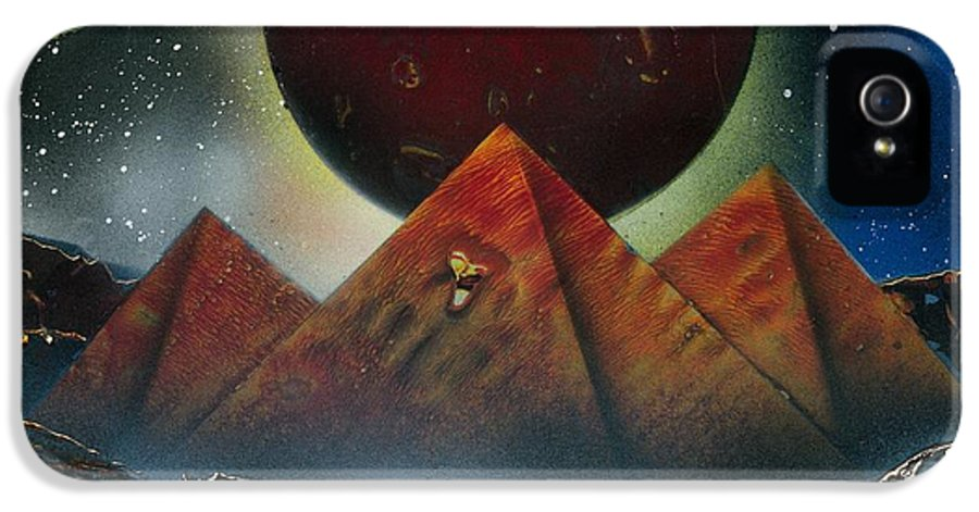 Space Art IPhone 5 Case featuring the painting Pyramids 4663 by Greg Moores