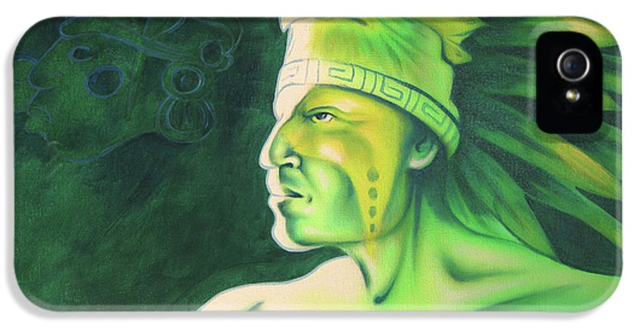 Native American Art IPhone 5 Case featuring the painting Quetzal by Robert Martinez