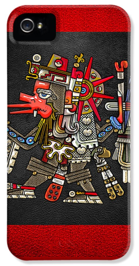 'treasures Of Mesoamerica' Collection By Serge Averbukh IPhone 5 Case featuring the digital art Quetzalcoatl In Human Warrior Form - Codex Borgia by Serge Averbukh
