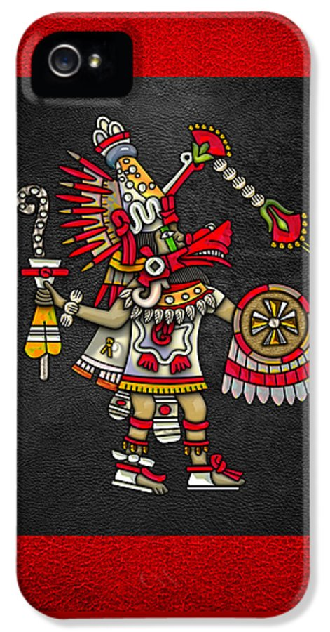 'treasures Of Mesoamerica' Collection By Serge Averbukhh IPhone 5 Case featuring the digital art Quetzalcoatl In Human Warrior Form - Codex Magliabechiano by Serge Averbukh
