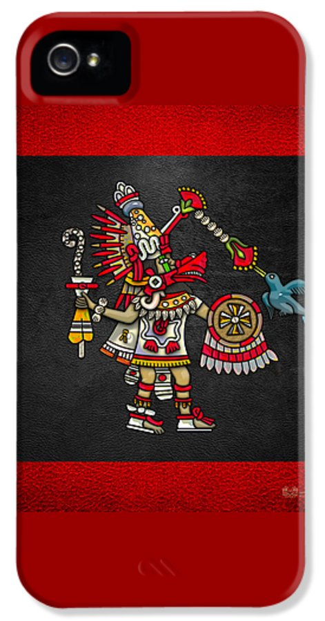 'treasures Of Mesoamerica' Collection By Serge Averbukhh IPhone 5 / 5s Case featuring the digital art Quetzalcoatl In Human Warrior Form - Codex Magliabechiano by Serge Averbukh