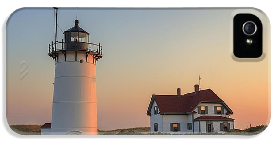 Race Point Light IPhone 5 Case featuring the photograph Race Point Lighthouse by Bill Wakeley