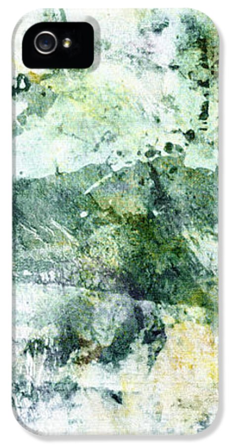 Abstract IPhone 5 Case featuring the painting Ragtime Abstract Art by Ann Powell