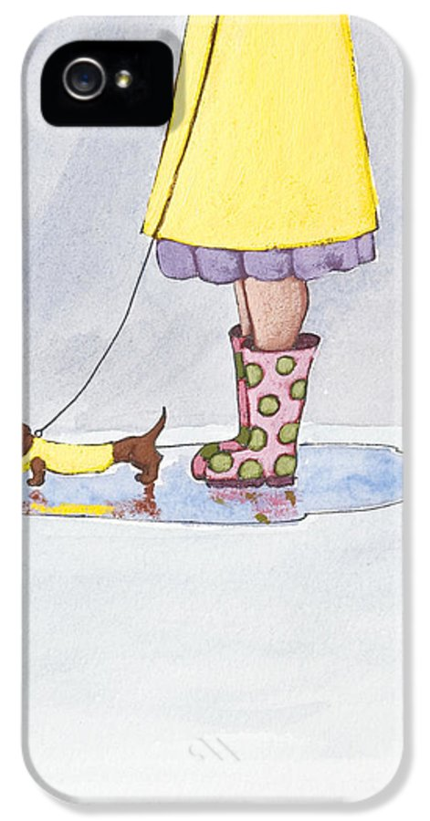 Boot IPhone 5 Case featuring the painting Rain Boots by Christy Beckwith