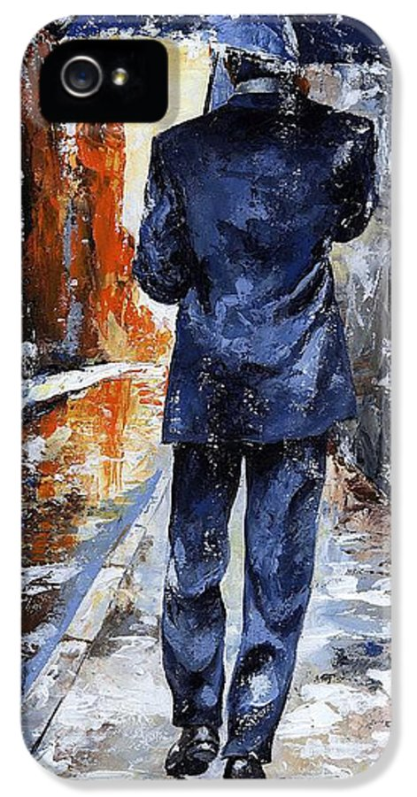 Rain IPhone 5 Case featuring the painting Rain Day #20 by Emerico Imre Toth