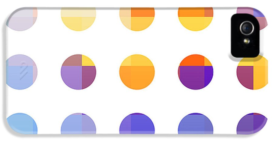 Abstract IPhone 5 Case featuring the painting Rainbow Dots by Pixel Chimp