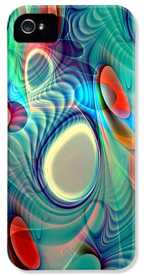Computer IPhone 5 Case featuring the digital art Rainbow Play by Anastasiya Malakhova