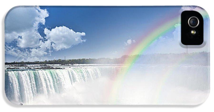 Niagara IPhone 5 Case featuring the photograph Rainbows At Niagara Falls by Elena Elisseeva
