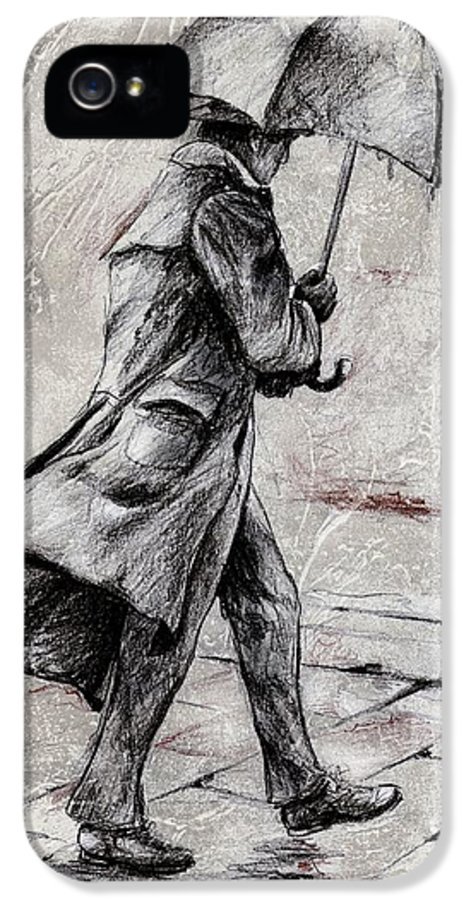 Drawings IPhone 5 Case featuring the drawing Rainy Day #07 Drawing by Emerico Imre Toth