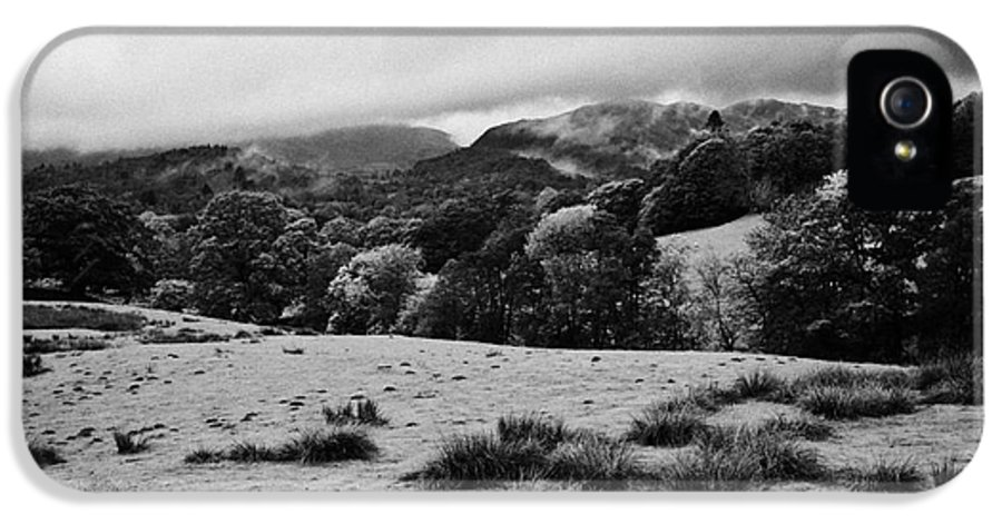 Rainy IPhone 5 Case featuring the photograph Rainy Day In The Lake District Near Loughrigg Cumbria England Uk by Joe Fox