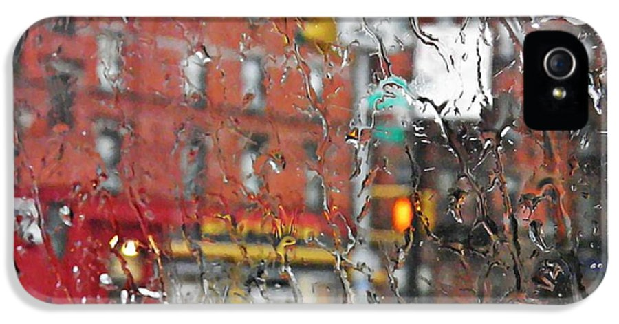 Rainy Day Nyc 2.sarah Loft IPhone 5 Case featuring the photograph Rainy Day Nyc 2 by Sarah Loft