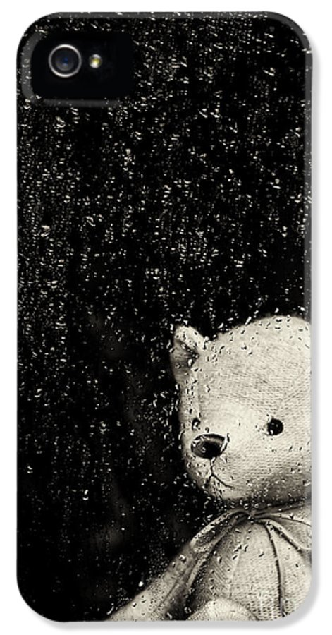Teddy Bear IPhone 5 Case featuring the photograph Rainy Days by Tim Gainey