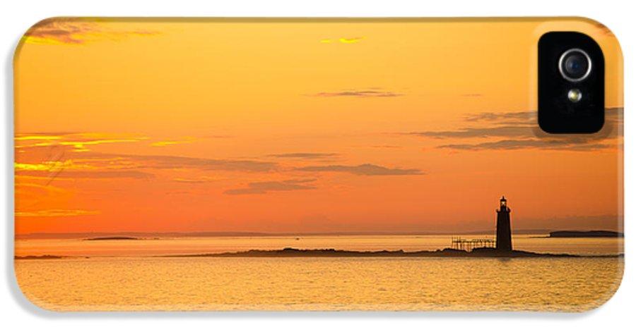 Ram Island IPhone 5 Case featuring the photograph Ram Island Light Casco Bay Maine by Diane Diederich