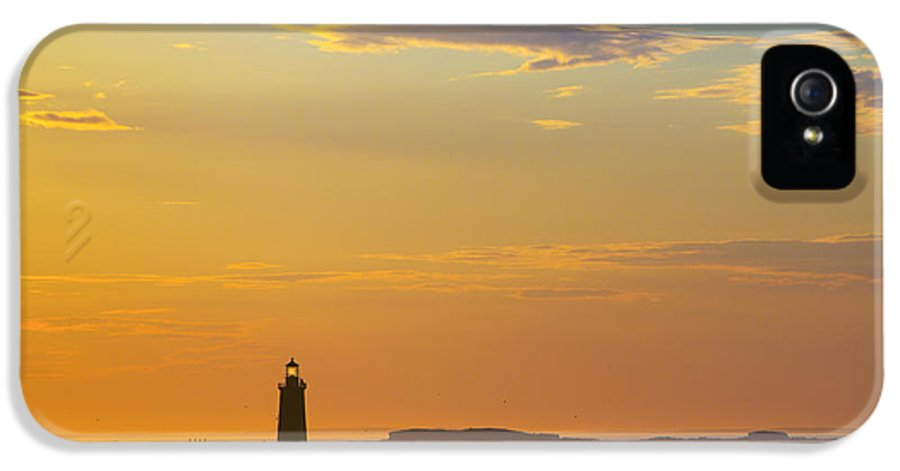 Lighthouse IPhone 5 Case featuring the photograph Ram Island Lighthouse Casco Bay Maine by Diane Diederich