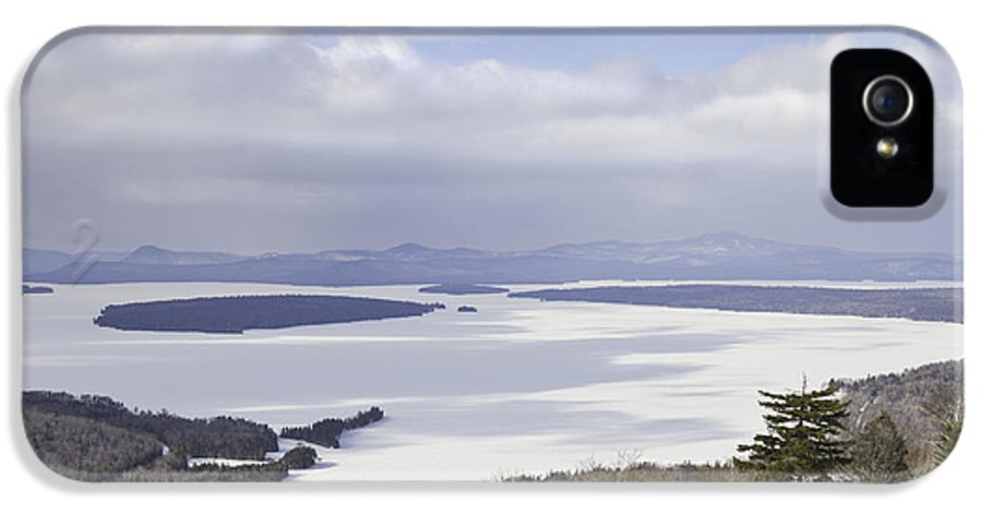 Maine IPhone 5 Case featuring the photograph Rangeley Maine Winter Landscape by Keith Webber Jr