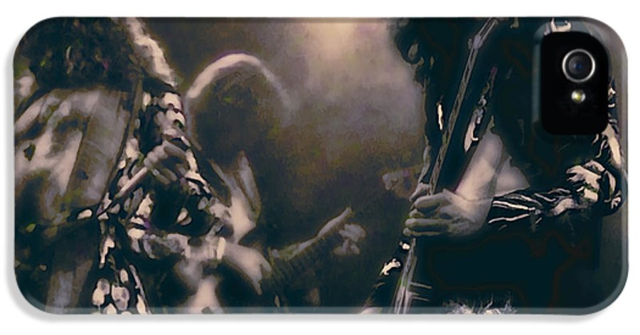 led Zeppelin IPhone 5 Case featuring the photograph Raw Energy Of Led Zeppelin by Daniel Hagerman