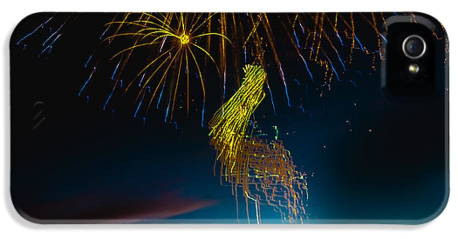 Fireworks IPhone 5 Case featuring the photograph Rays Of Light From Above by Robert Bales