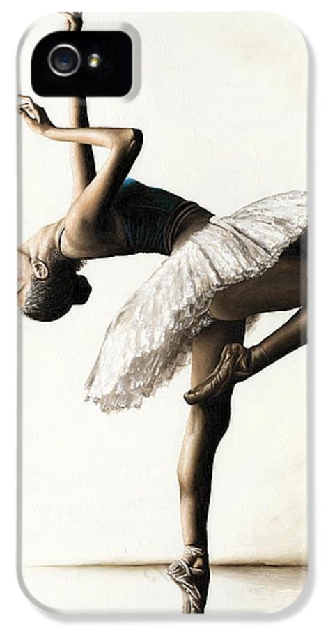 Dancer IPhone 5 Case featuring the painting Reaching For Perfect Grace by Richard Young