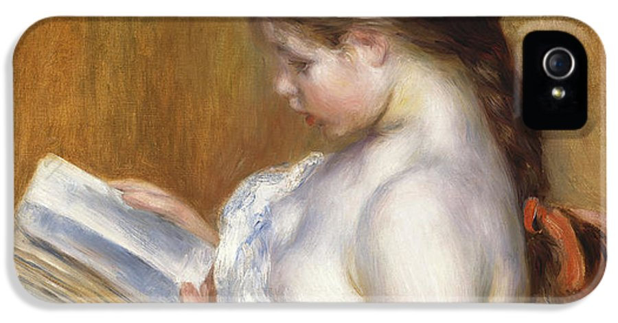 Impressionist IPhone 5 Case featuring the painting Reading by Pierre Auguste Renoir