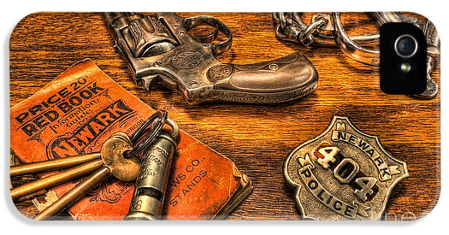 Police IPhone 5 Case featuring the photograph Ready For Duty - Police Officer by Lee Dos Santos