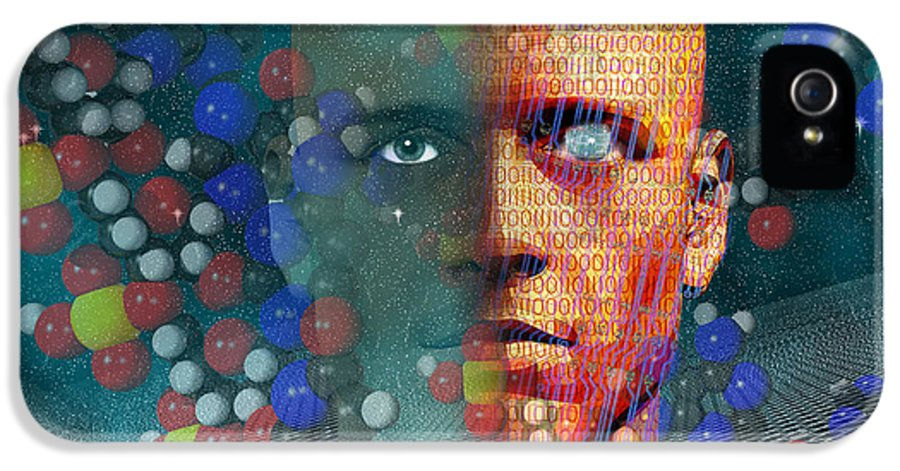 Binary Code IPhone 5 Case featuring the digital art Rebirth by Carol and Mike Werner