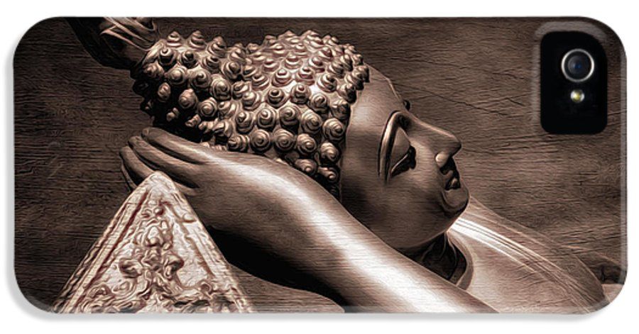 Hdr IPhone 5 Case featuring the photograph Reclining Buddha by Adrian Evans