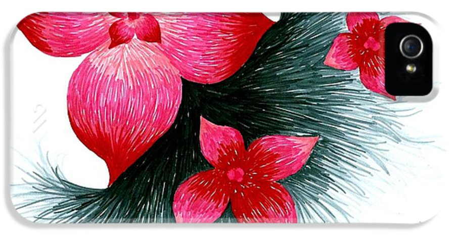 Red Blue Pink Yellow Orange Green Brown Ember Amber Magenta Jasmine Tan Copper Bronze Crimson Silver Gold Shiny Broken Flower Flowers Forever Water Surfing Lake Pond Michigan Summer Fall Winter Spring Seasons Season Kite Kangaroo Horse Cat Dog Dogs Puppies Puppy Frog Toad Spider White Black Grey In-between Lavender Striped Stripes Cross Ribbon Button Buttons Light Lightning Thunder Storm Hurricane Tornado Two Reaching Women Men Underwear Majestic Beautiful Beauty Happiness Happy Landscapes Laugh IPhone 5 Case featuring the drawing Red by Allyson Andrewz